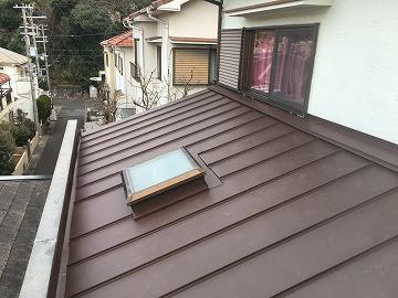 屋根カバー工事立平葺き完成