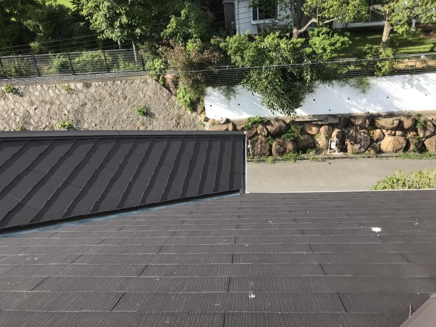 屋根リフォーム前のカラーベスト屋根