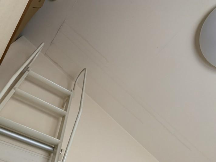 屋根リフォーム前点検で発見した2階天井の雨漏り箇所2カ所目