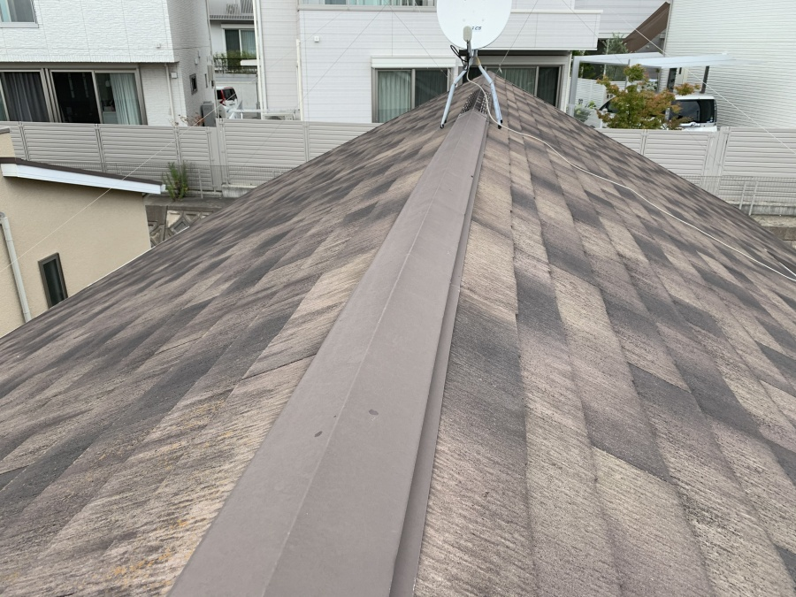 屋根リフォーム前点検したカラーベスト屋根