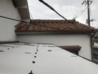 雨漏り個所付近の壁際の取り合い