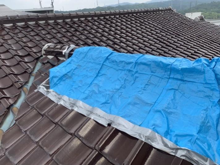 棟の崩れにより養生をしています 神戸市北区