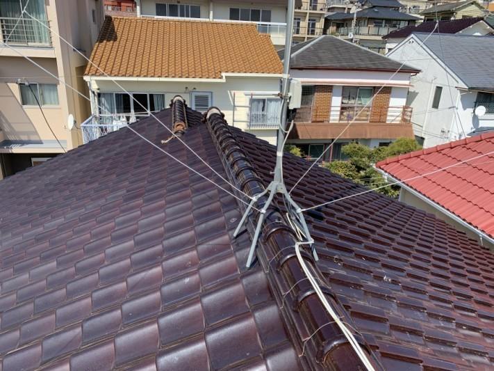 釉薬瓦屋根工事前