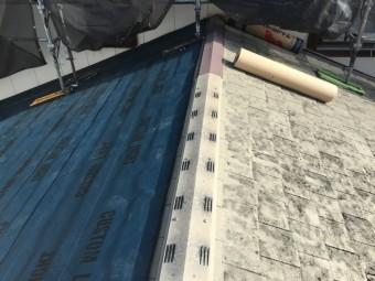 屋根防水シート施工