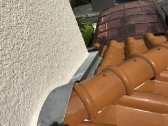 芦屋市 ガルバリウム鋼板板金補修工事前