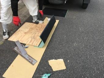 芦屋市 ガルバリウム鋼板板金加工