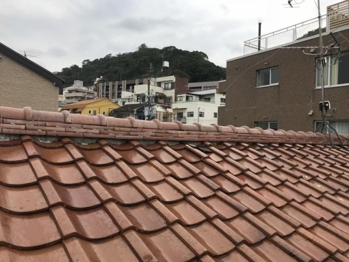 神戸市中央区 塩瓦葺きの棟