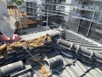 棟瓦の修理 棟の解体