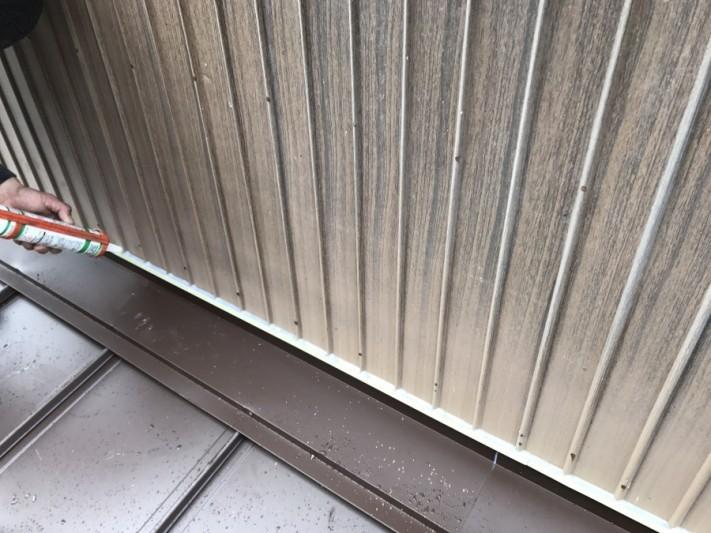 壁際の取り合いコーキング処理