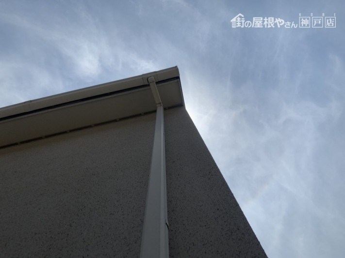 神戸市東灘区 竪樋と集水器の外れ