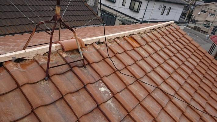 防災棟の下地垂木設置