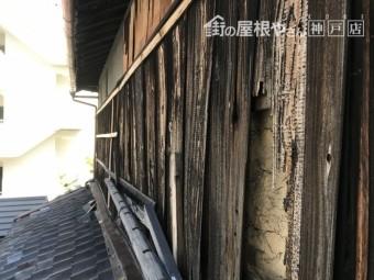 外壁、焼き板の捲れ