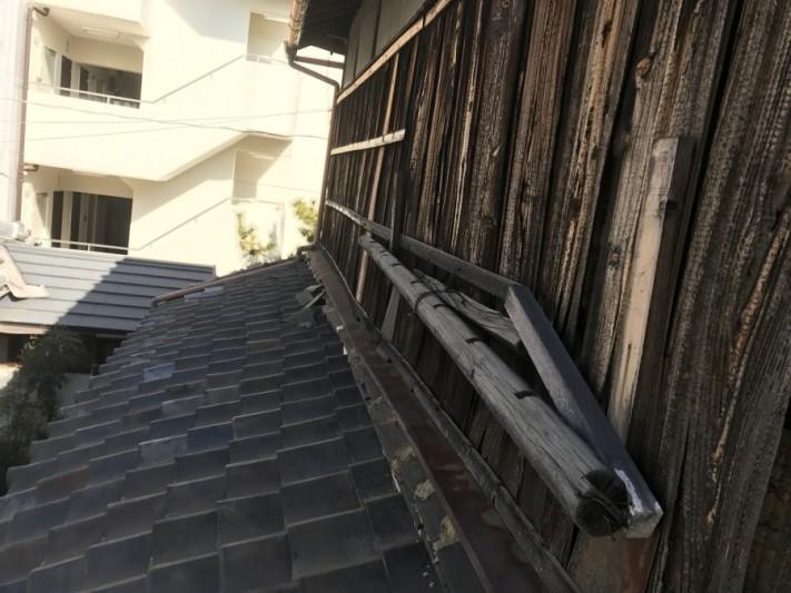 築80年の下屋根の様子