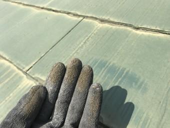 屋根塗装のチョーキング