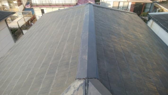 屋根リフォーム棟板金交換完成