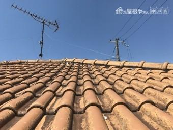 モニエル葺きの屋根