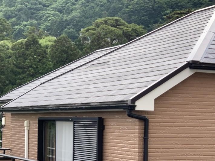 神戸市北区 屋根塗装をしているカラーベスト屋根