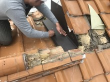 伊丹市 ガルバリウム鋼板をお住まいに合わせて加工します。