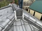 燻瓦屋根 工事着工 漆喰