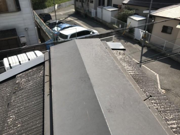 棟板金固定の鉄くぎのゆるみ