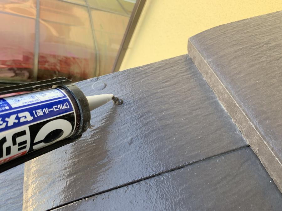雨樋の脱落 原因のケラバ瓦の釘穴コーキング