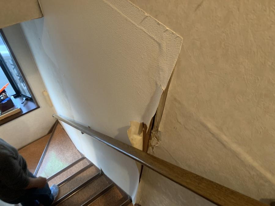 雨漏り調査時の雨漏り箇所