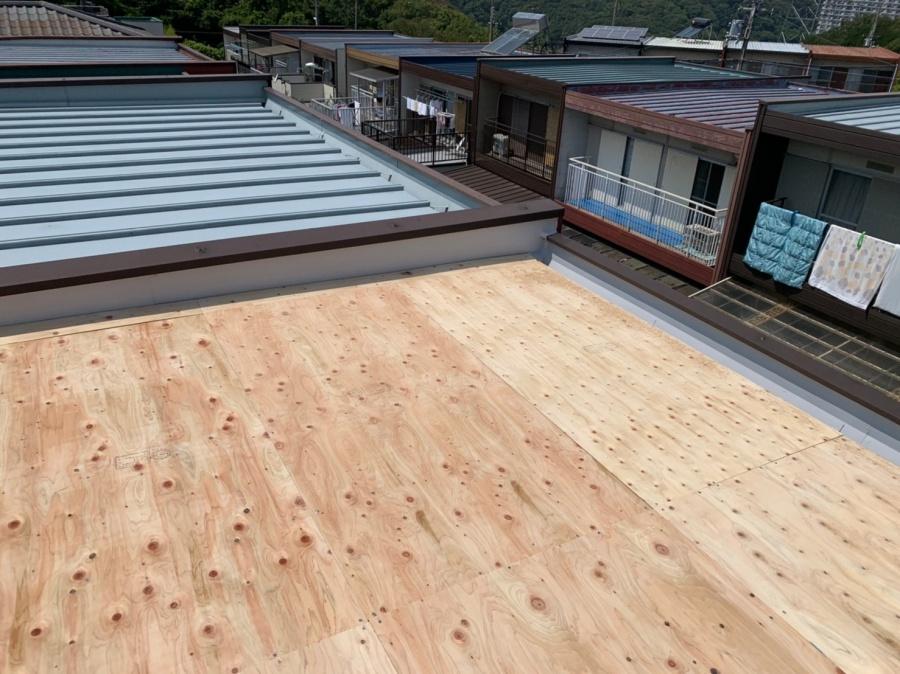 屋根工事時に使用 下地構造用合板12mm