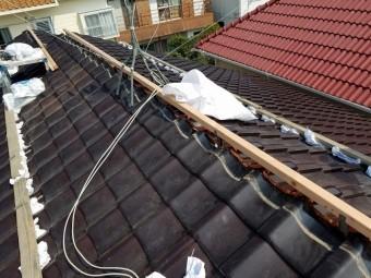 棟下地垂木施工
