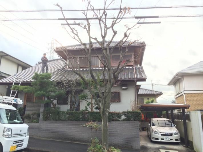 神戸市西宮瓦屋根和風建築現場全貌