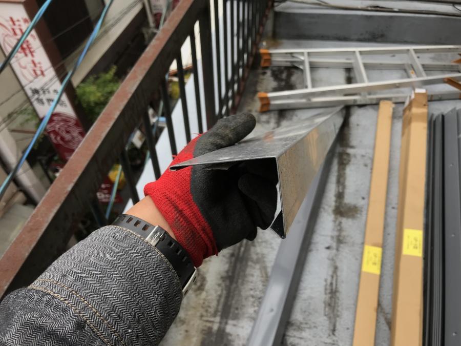屋上防水工事で塩ビ鋼板UP-4