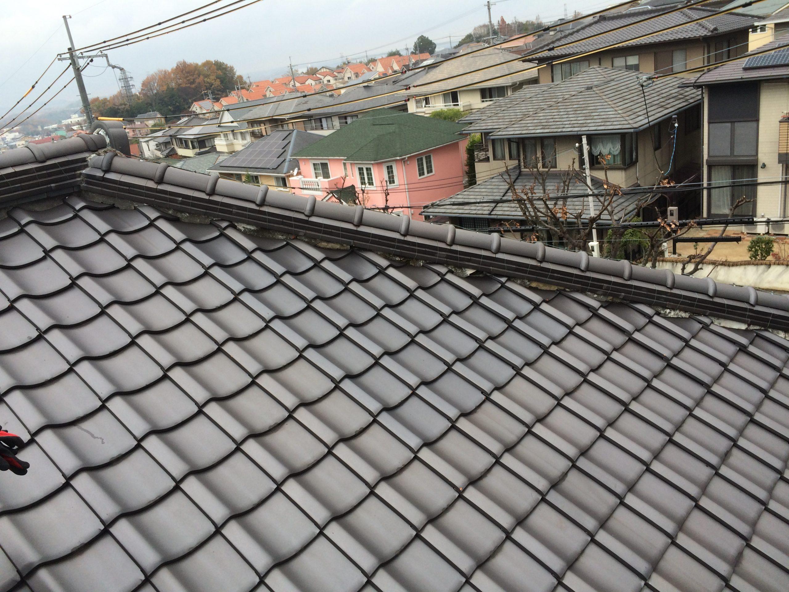 釉薬ギングロの屋根