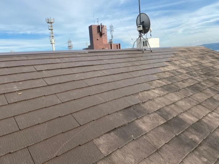 屋根リフォームで平場カラーベスト貼り
