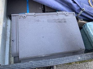 屋根修繕で新設するドリーム30(富士スレート)