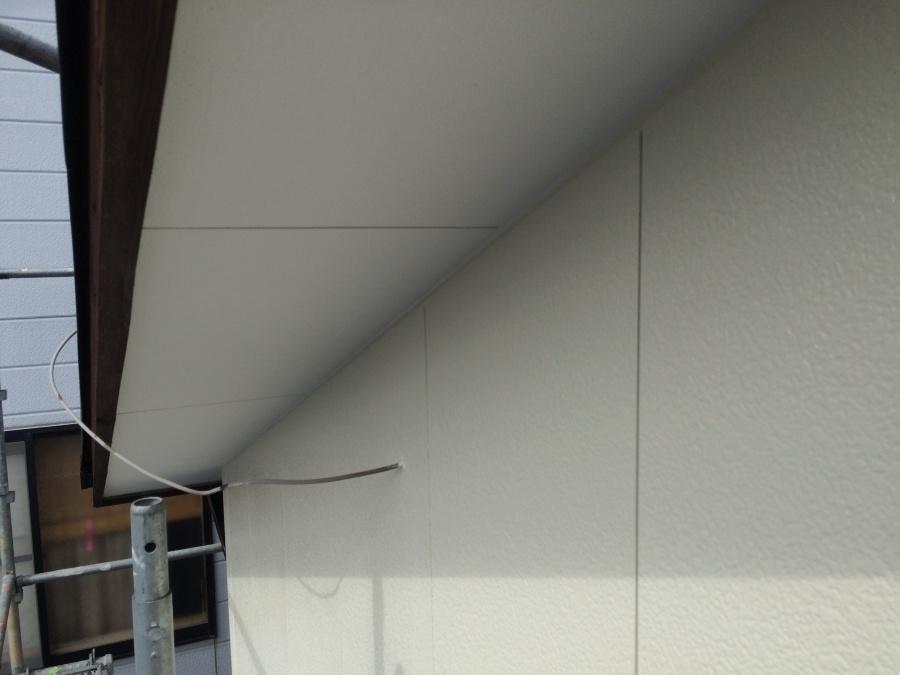 軒天外壁塗装完成