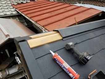 屋根の頂点は棟板金を施工