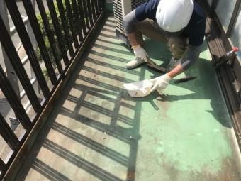 既存防水層の清掃