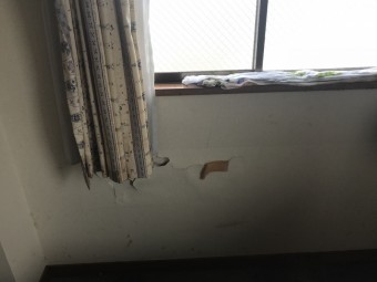 3階居室への雨漏り