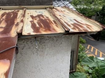 西宮市 台風被害 雨樋の飛散