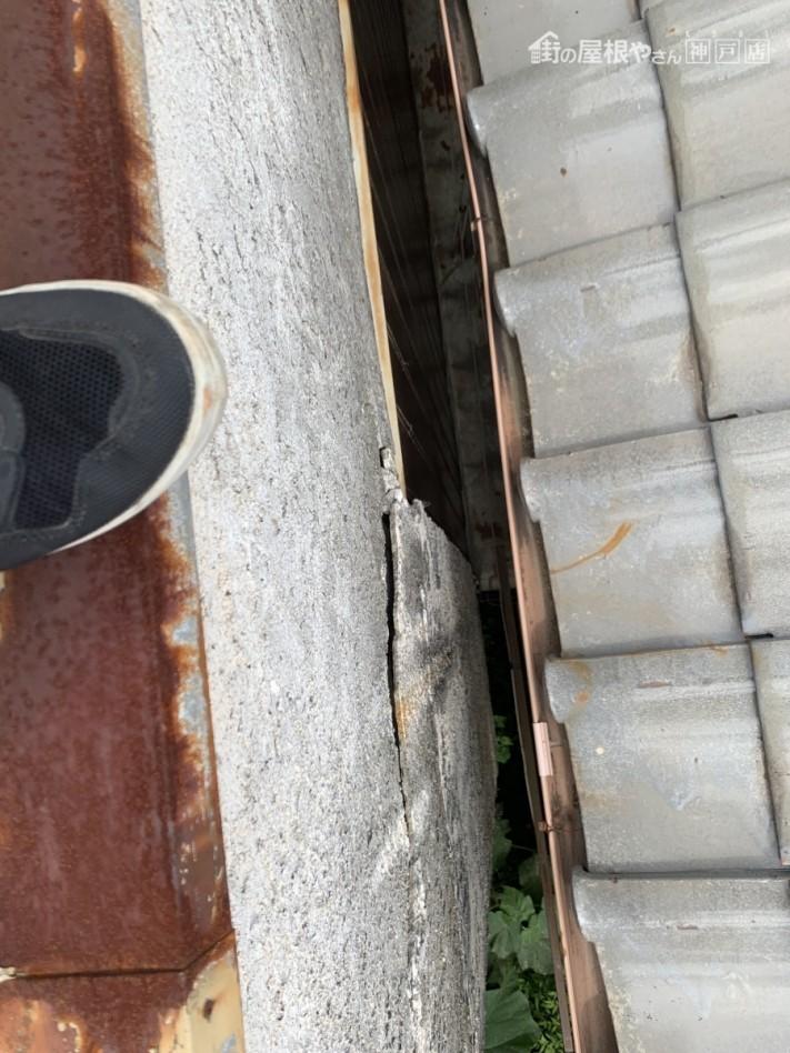 西宮市 台風被害 外壁の浮き上がり