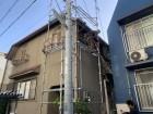 神戸市中央区 棟板金の吹き飛び 足場架設