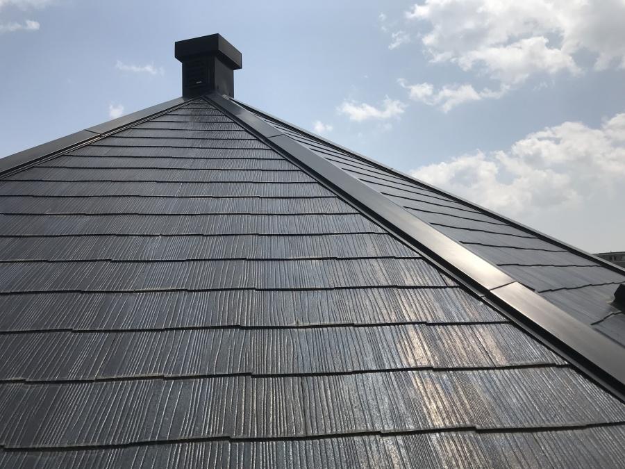 スーパーガルバリウム鋼板ガルテクト葺き前