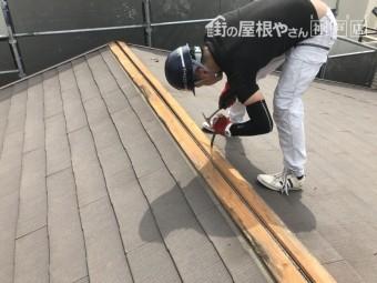 下地の貫板もめくっていきます。