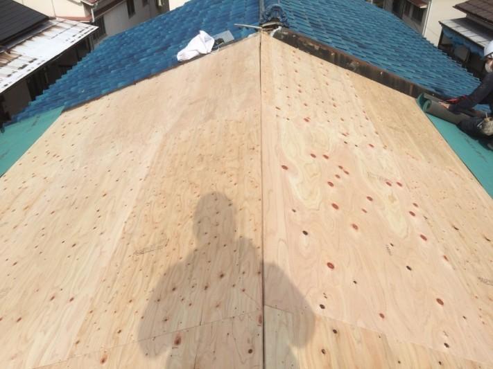 野地板の施工完了。