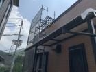 神戸市北区 コロニアル差替え 足場架設