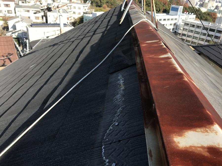 屋根塗装工事 大屋根施工前