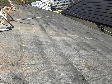 洗浄前の屋根面