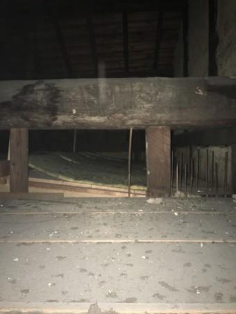 屋根の裏の様子