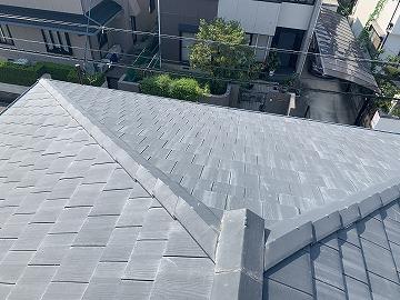 葺き替え前のセメント瓦屋根