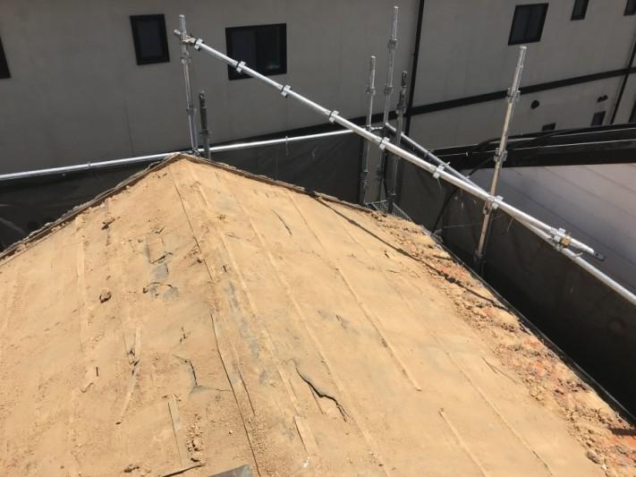 屋根材撤去完了