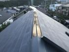 屋根の板金が飛散
